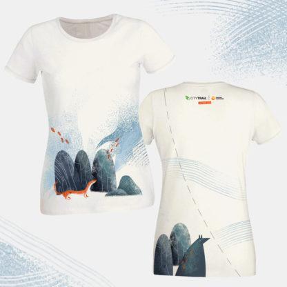 Koszulka techniczna CITY TRAIL onTour damska, biała