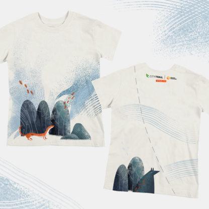 Koszulka techniczna CITY TRAIL onTour Junior, biała - PRZEDSPRZEDAŻ