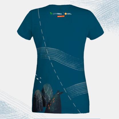Koszulka techniczna CITY TRAIL onTour damska, granatowa - PRZEDSPRZEDAŻ