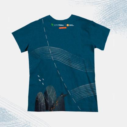 Koszulka techniczna CITY TRAIL onTour Junior, granatowa - PRZEDSPRZEDAŻ